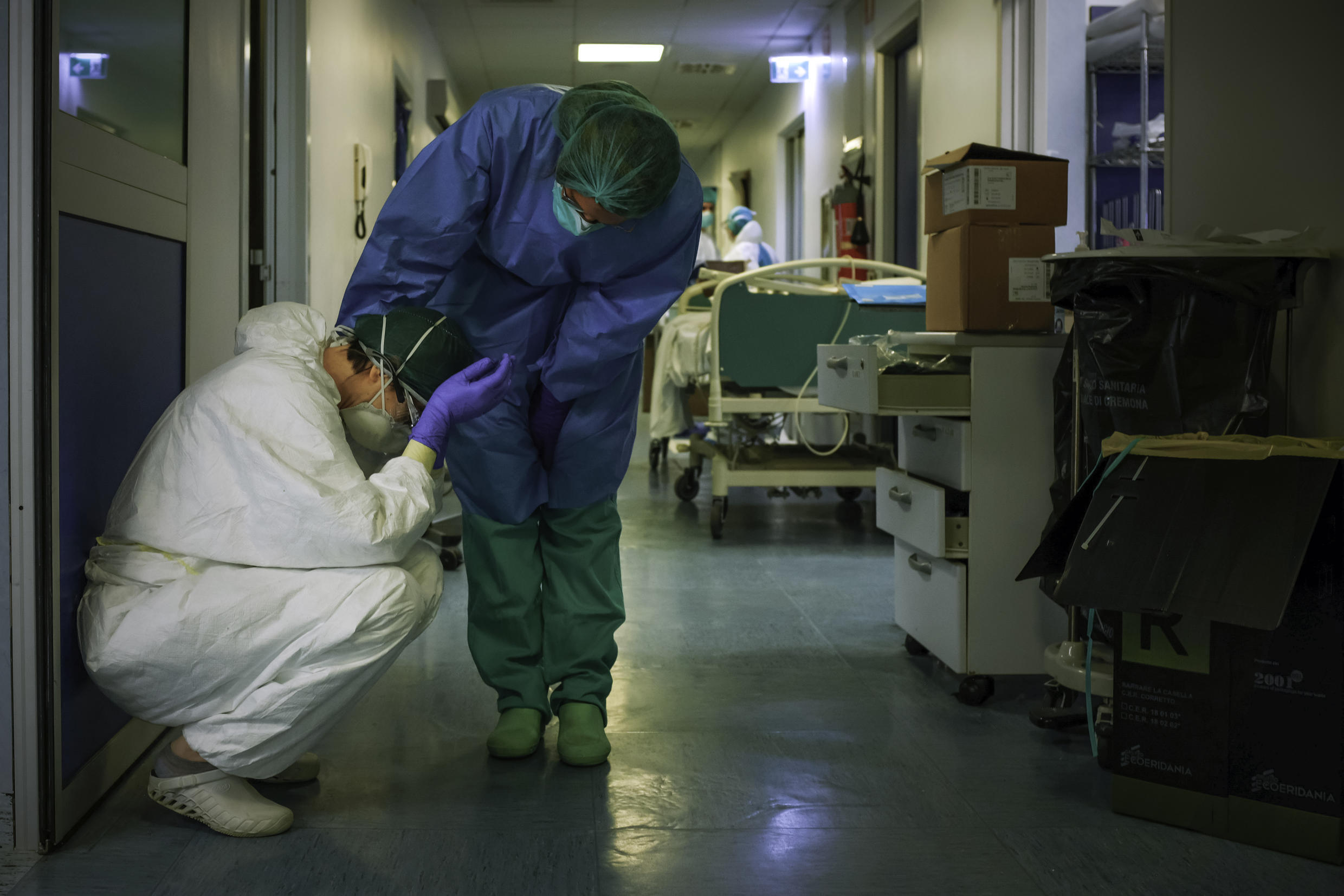 Health workers face physical danger and psychological stress in the pandemic