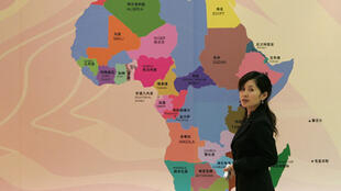 A map of Africa presented to Chinese businessmen at a seminar in Shanghai
