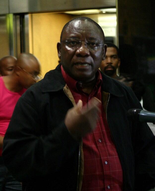 Cyril Ramaphosa nie totalement avoir eu des relations avec certaines jeunes filles dont il finance les études (photo d'archives).