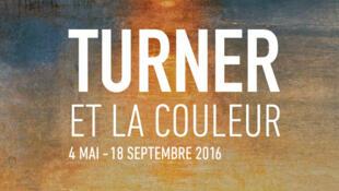 """Affiche de l'exposition """"Turner et la couleur"""" à Aix-en-Provence."""