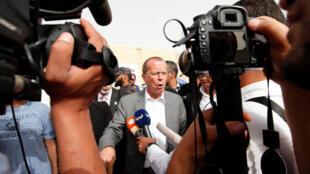 Đặc phái viên Liên Hiệp Quốc Martin Kobler trả lời báo chí trong chuyến thị sát tình hình tại Libya ngày 19/05/2016.