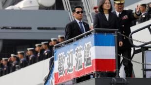 Tổng thống Đài Loan Thái Anh Văn thăm căn cứ  Hải Quân ở Cao Hùng, ngày 21/03/2017.