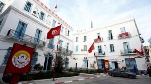 Le siège de l'UGTT, l'Union générale tunisienne du travail, à Tunis.