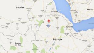 La ville de Gonda, située au nord-ouest de l'Ethiopie.