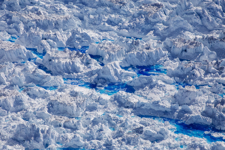 格陵蘭島冰川融化景象。攝於2018年6月19日