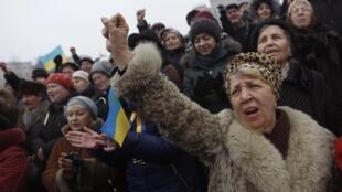 Народное вече в Киеве, 9 февраля 2014, Украина