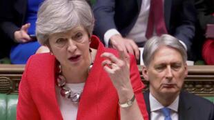 La Première ministre Theresa May au Parlement, à Londres, le 12 mars 2019.