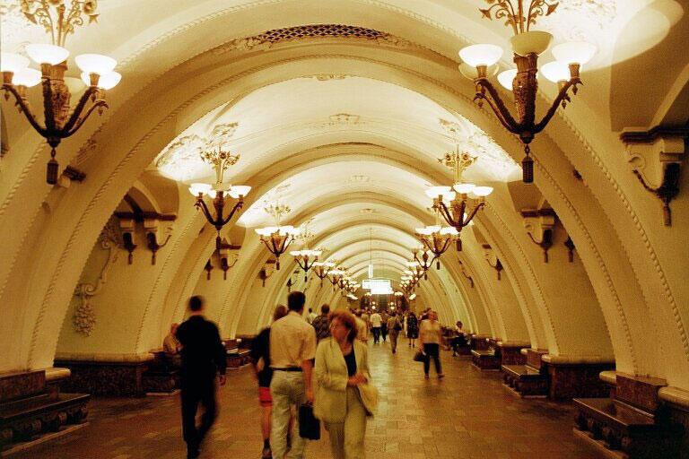 Exposition sur le métro de Moscou.
