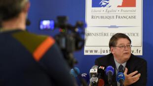 Le procureur français de Nancy François Perain lors d'une conférence de presse, à Nancy, dans l'est de la France le 18 avril 2021.