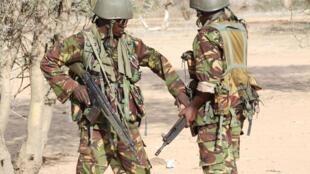 Des militaires kenyans à la frontière avec la Somalie. (Image d'archive).