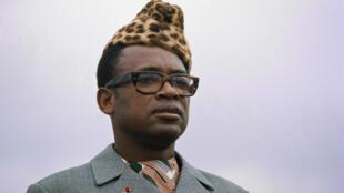Mobutu Sese Seko en août 1975.