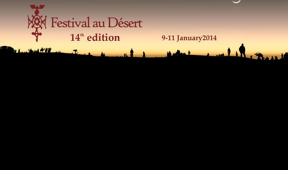 L'Affiche de la 14e édition du Festival au désert de Tombouctou (2014).