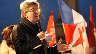 Jean-Luc Mélenchon, este 6 de marzo en París.