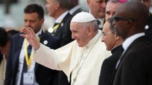 Shugaban Darikar Katolika ta Duniya Fafaroma Francis a babban birnin Maputo na Mozambique