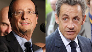 Hai ứng cử viên François Hollande và Nicolas Sarkozy.