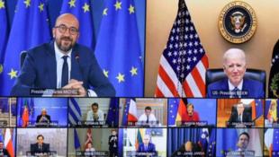 美国总统拜登参加欧洲理事会峰会资料图片