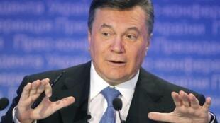 Виктор Янукович на пресс-конференции в Киеве 21/12/2011