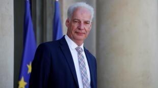 Le ministre délégué des petites et moyennes entreprises Alain Griset sortant d'une réunion à l'Élysée, le 7 juillet 2020.