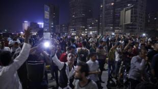 Les manifestants égyptiens, le 20 septembre 2019.