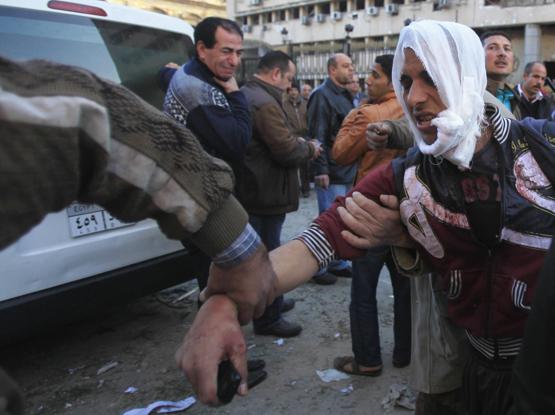 Tổng nha cảnh sát Cairo bị khủng bố sáng ngày 24/01/2014.