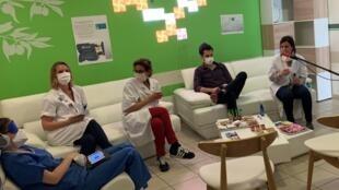 «La bulle», espace de détente et d'écoute pour les soignants confrontés au Covid-19.