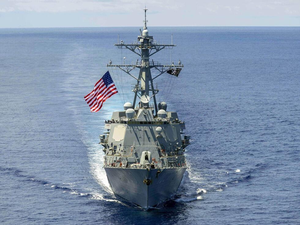 美国一艘导弹驱逐舰