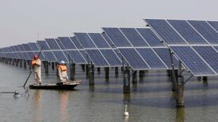 中国生产的太阳能板