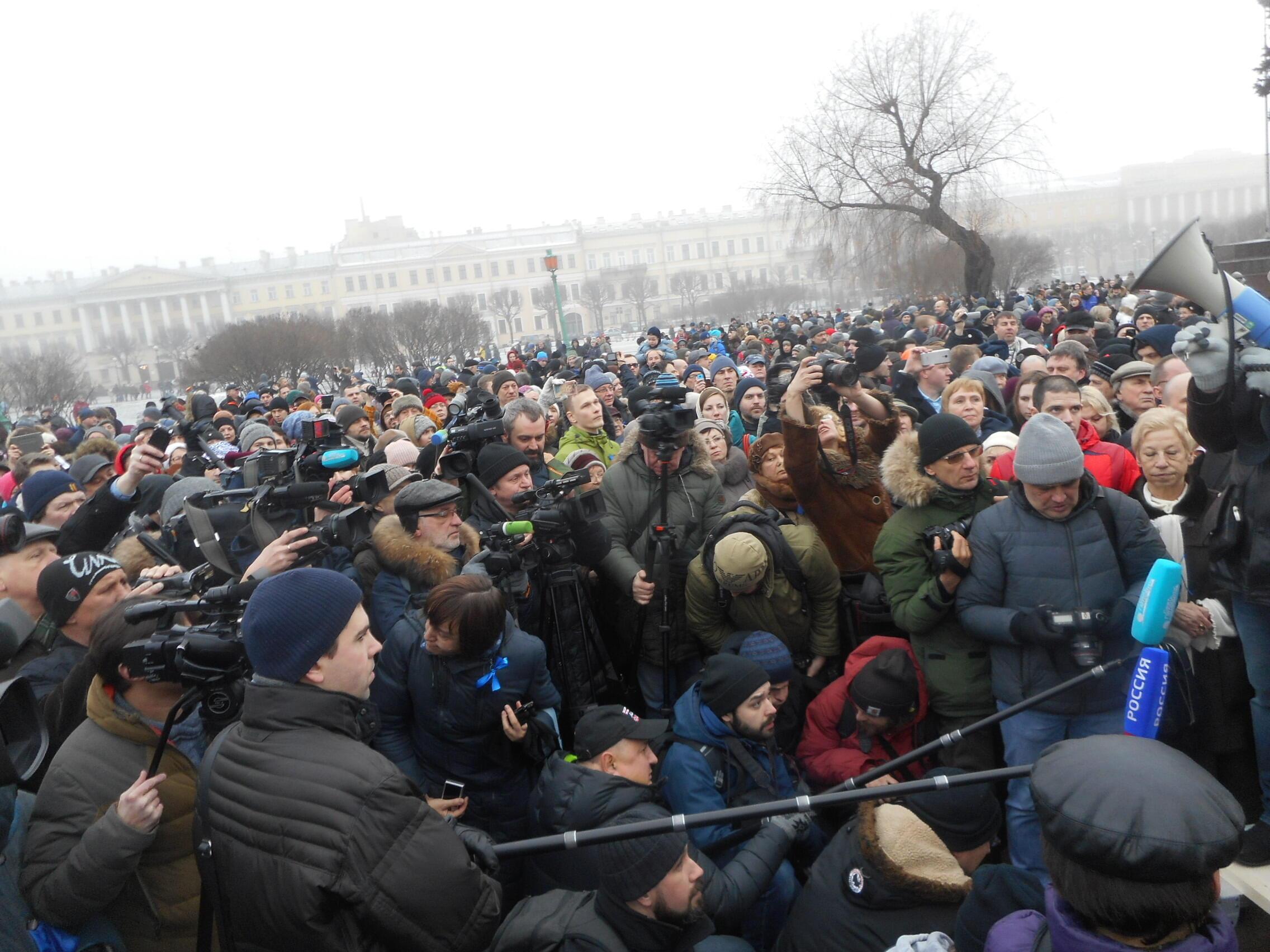 Митинг против передачи Исаакиевского собора РПЦ 28 января 2017