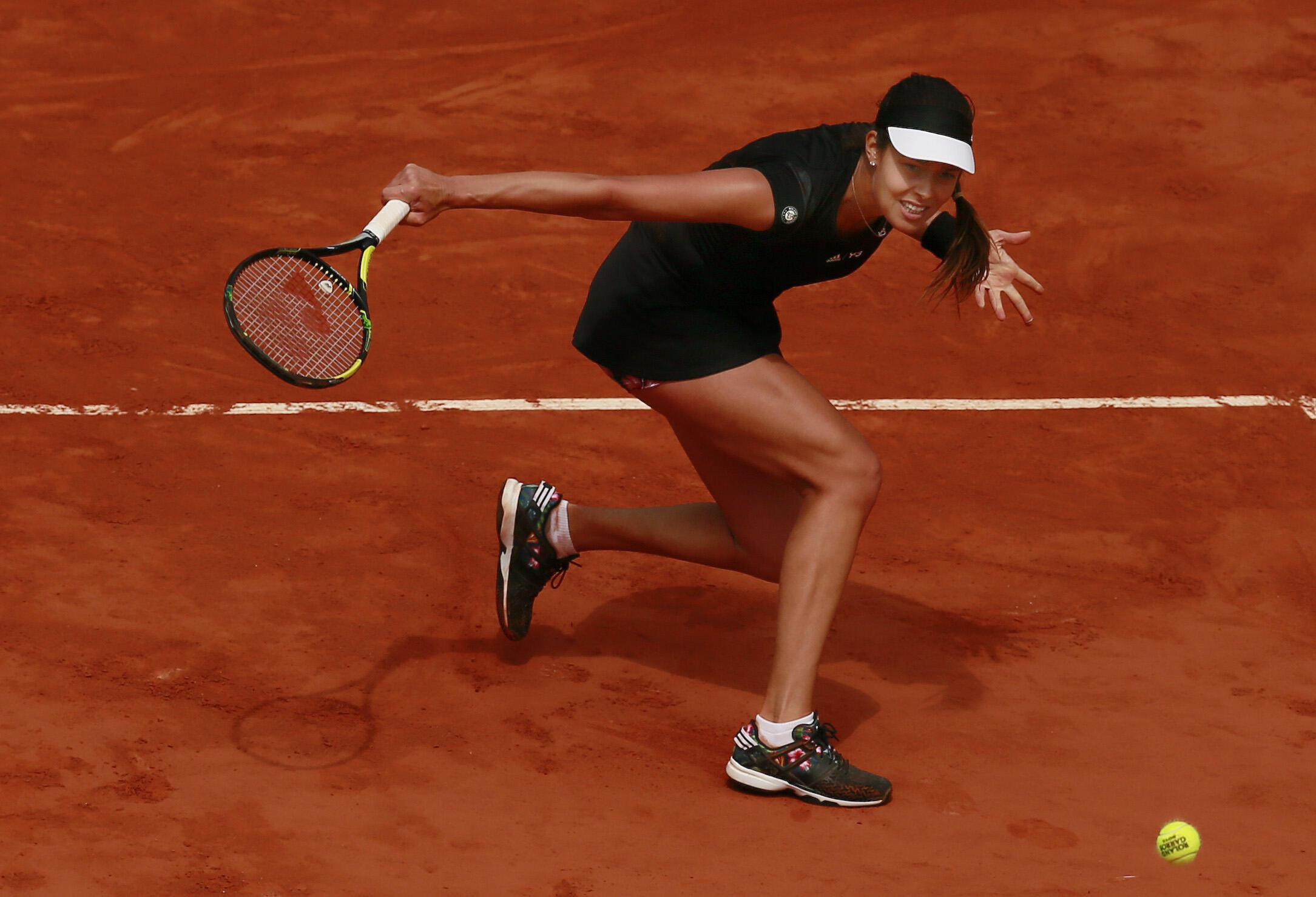 Serbia's Ana Ivanovic during her quarter final match