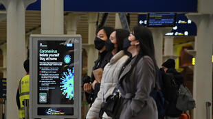 Eurostar passengers, required to wear masks for travel. May 2020