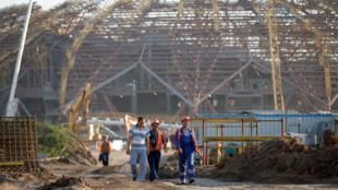 Строительство стадиона «Самара Арена», 17 июля 2017.