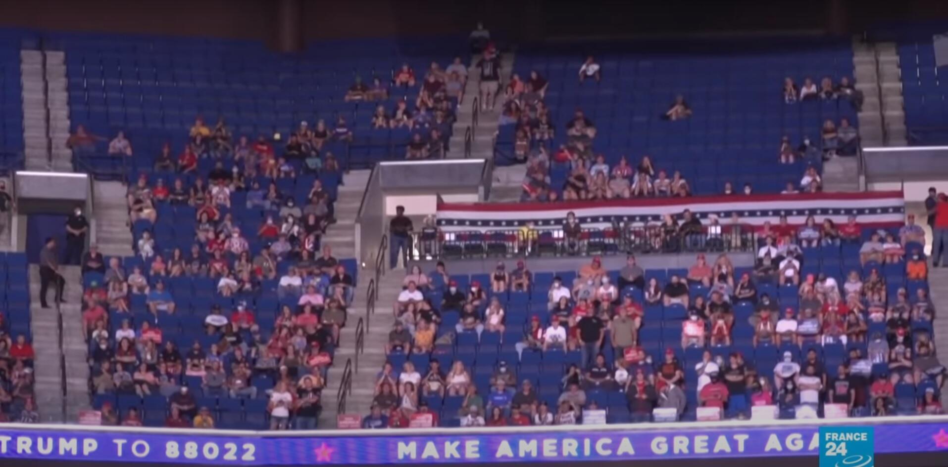 empty seats trump Tulsa