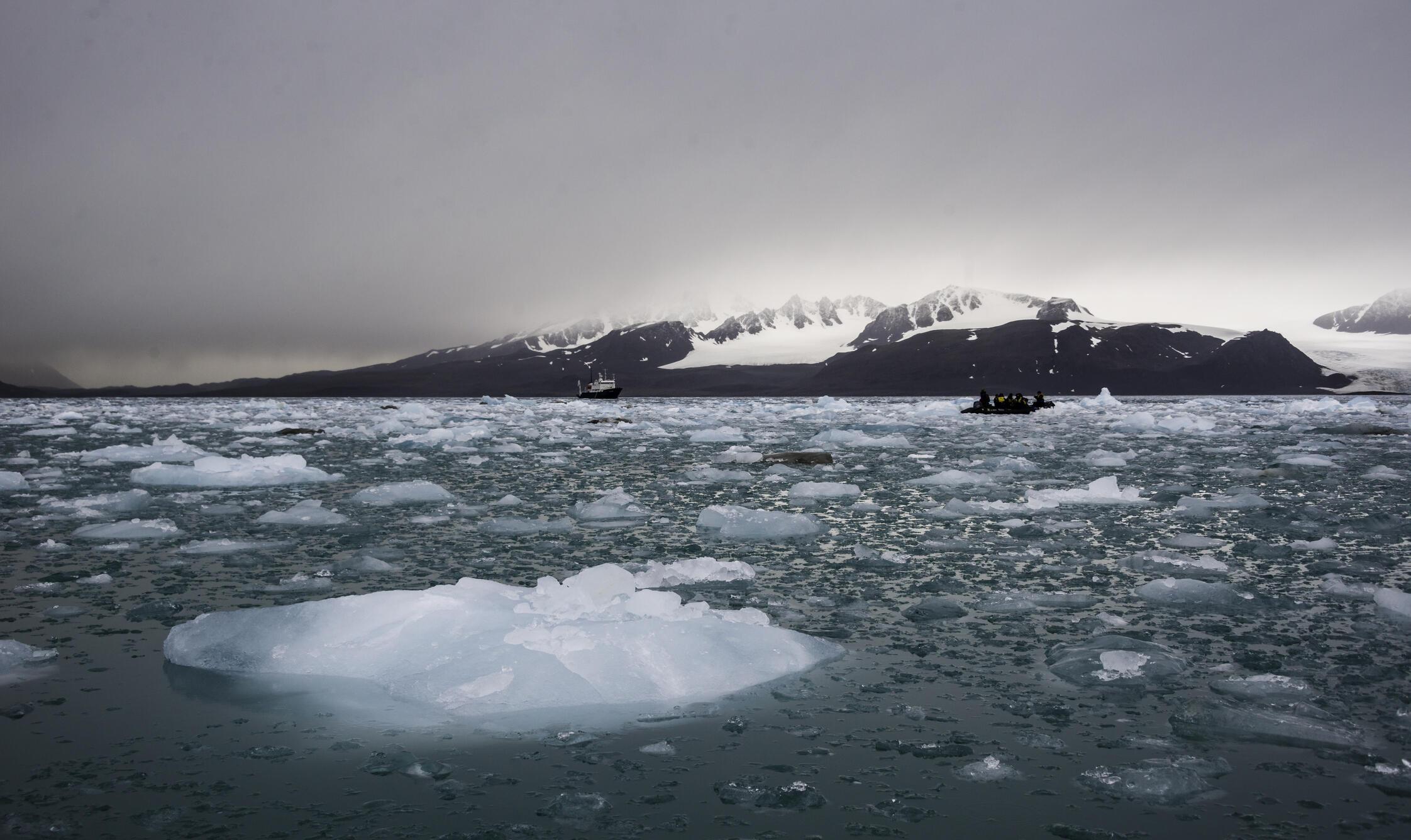 Dans l'Arctique, les températures ont augmenté de 2,8 degrés depuis le début du XXe siècle.