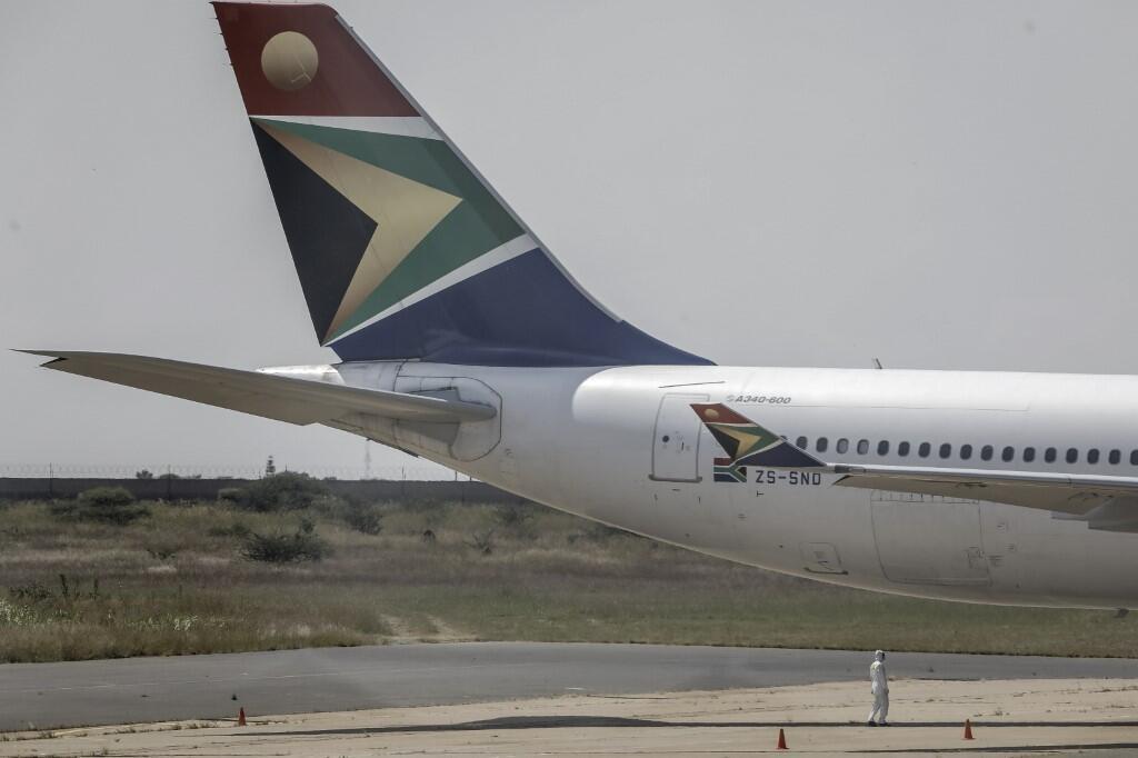 Un avion de la compagnie South African Airways, le 14 mars 2020 à Polokwane, en Afrique du Sud (image d'illustration).