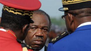 Ali Bongo, aux obsèques de son père à Libreville, le 16 juin 2009.