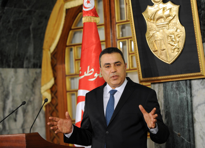 Le Premier ministre Mehdi Jomaa, au Palais de Carthage à Tunis, le 25 janvier 2014.