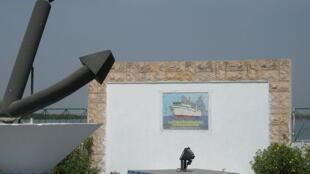 Monument commémorant le naufrage du «Joola», à Ziguinchor au Sénégal, le 22 septembre 2002.