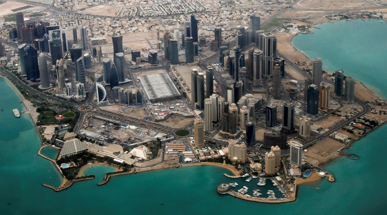 Une vue aérienne du quartier diplomatique de Doha, au Qatar.