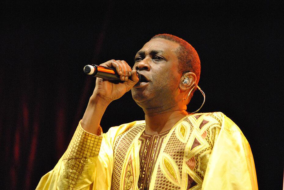 Youssou N'Dour au festival du chant marin de Paimpol en 2015.