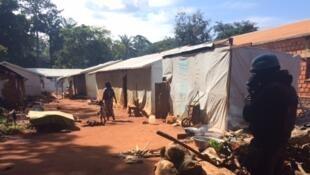 Quartier musulman de Bangassou, en Centrafrique. Vue du site du Petit Séminaire 2, le 24 octobre 2017.