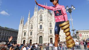 El colombiano Egan Bernal, ganador del Giro de Italia contrajo covid-19