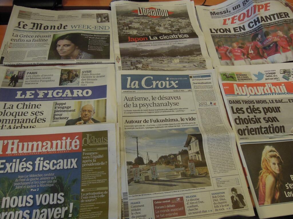 Diários franceses 09/03/2012