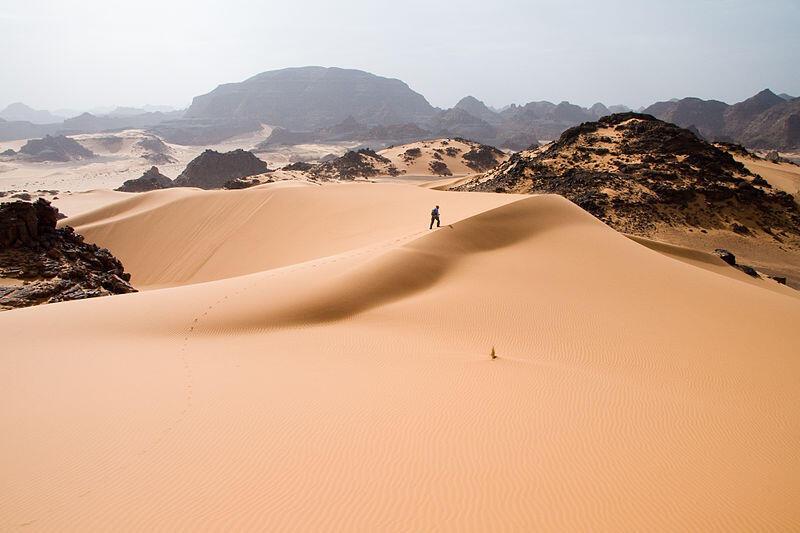 Le Sahara, de nos jours.