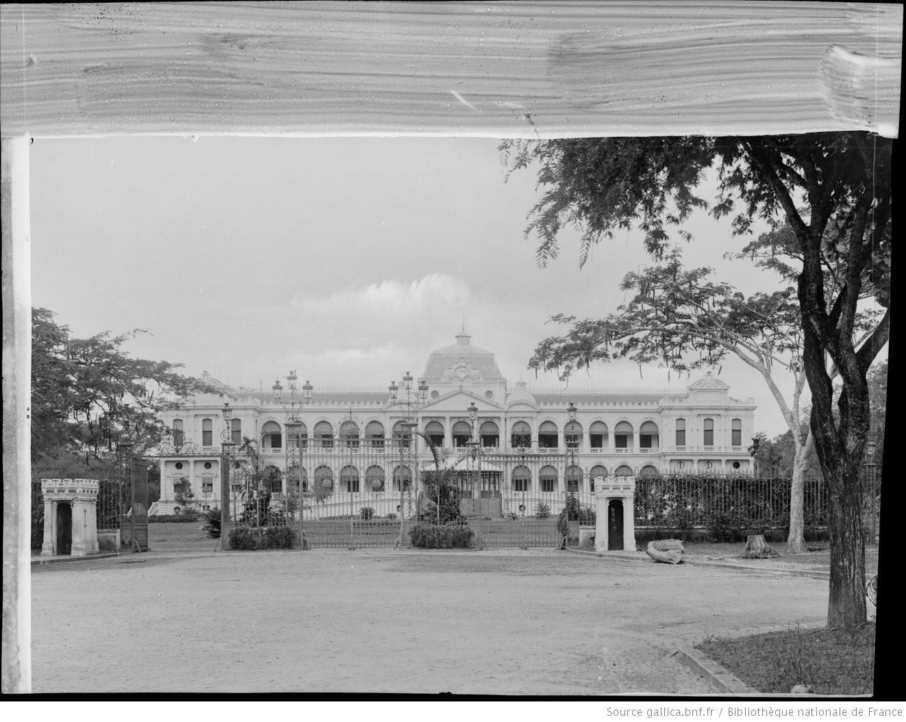 Dinh Toàn quyền Đông Dương, Sài Gòn. Ảnh chụp năm 1896.