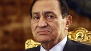 Hosni Moubarak au Caire, le 19 octobre 2010.