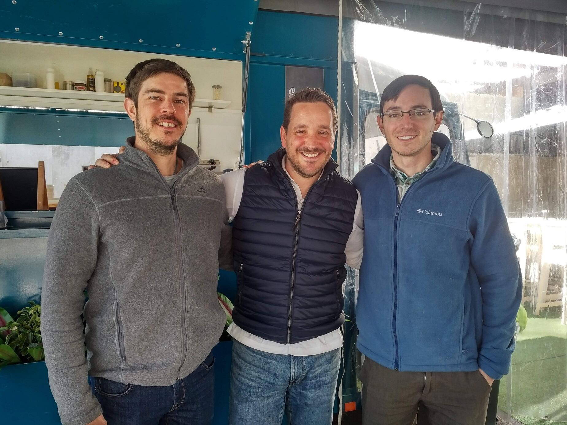 De izquierda a derecha, Javier Salinero, Marcial Iquerella y enrique Salas. Madrid, enero de 2019.