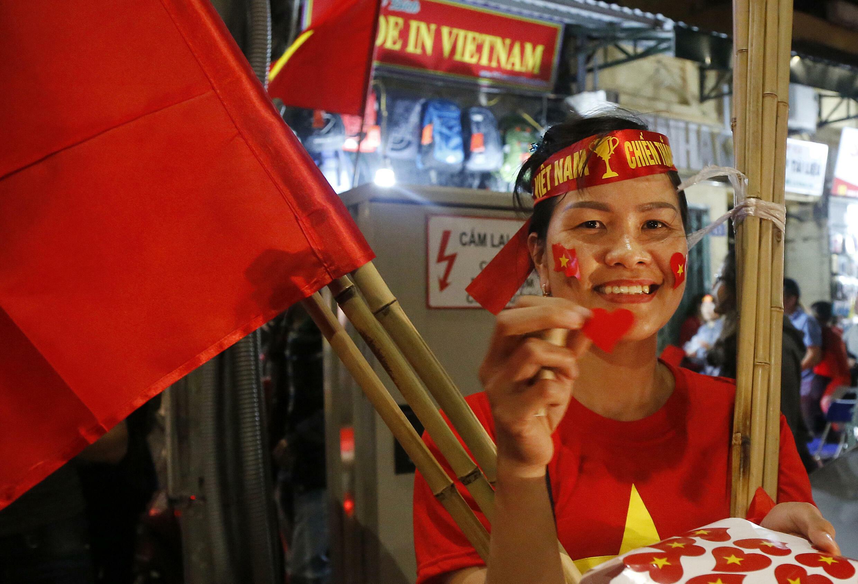 Supporter de football vietnamien - AP19051368629271