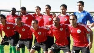 L'équipe de Libye le 10 juin 2012.