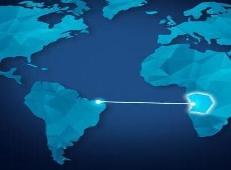O cabo submarino de 6.165 km da Angola Cables ligará Luanda à Fortaleza.