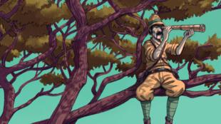 Détail de la couverture de la BD « Un Anglais dans mon arbre », d'Olivia Burton et Mahi Grand.
